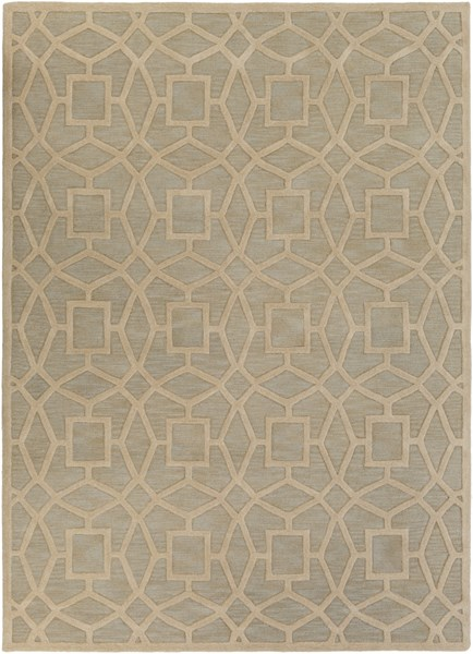 Dream Contemporary Slate Beige Wool Area Rug (L 132 X W 96) DST1170-811