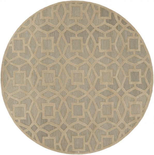 Dream Contemporary Slate Beige Wool Area Rug (L 96 X W 96) DST1170-8RD