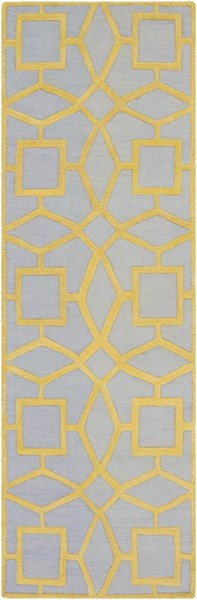 Dream Contemporary Slate Gold Wool Runner (L 96 X W 30) DST1173-268