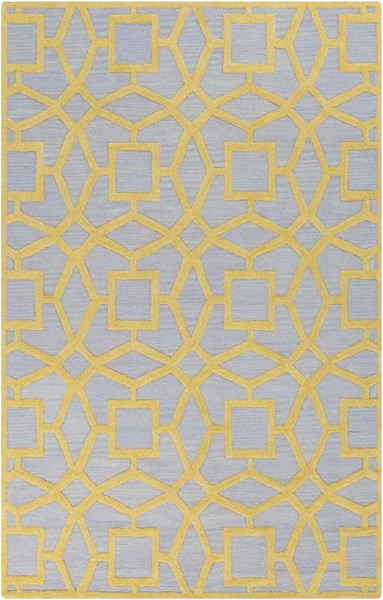 Dream Contemporary Slate Gold Wool Area Rug (L 96 X W 60) DST1173-58