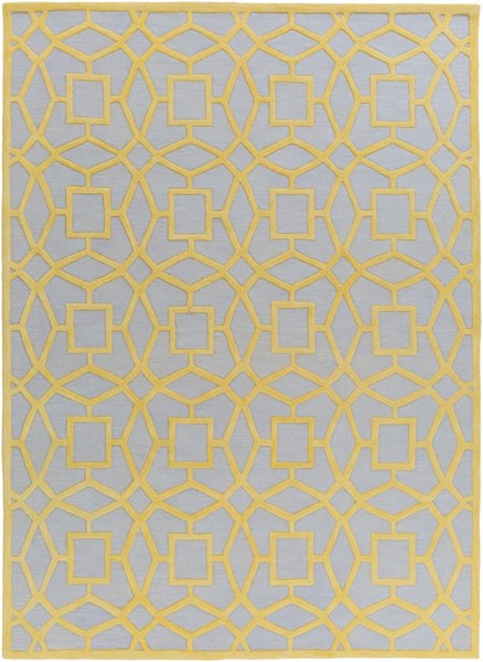 Dream Contemporary Slate Gold Wool Area Rug (L 132 X W 96) DST1173-811