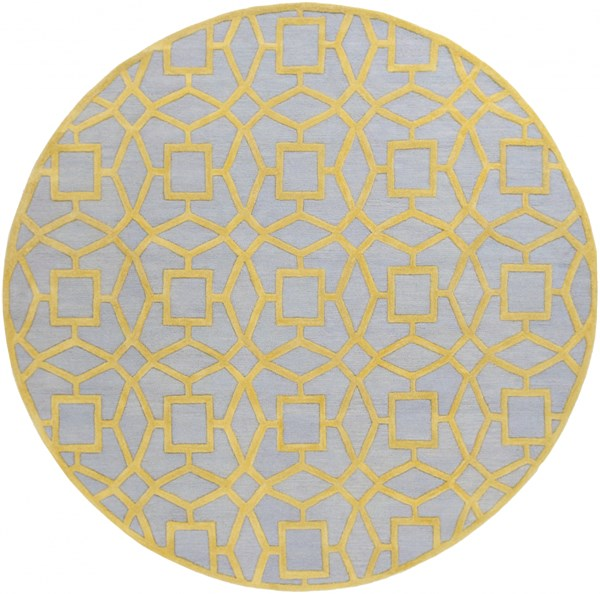 Dream Contemporary Slate Gold Wool Area Rug (L 96 X W 96) DST1173-8RD