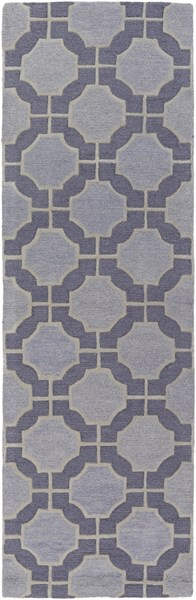Dream Contemporary Navy Slate Gray Wool Runner (L 96 X W 30) DST1184-268
