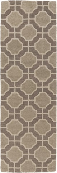 Dream Contemporary Olive Gray Wool Runner (L 96 X W 30) DST1186-268