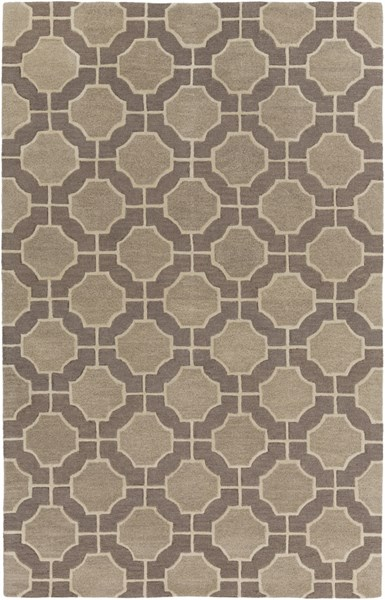 Dream Contemporary Olive Gray Wool Area Rug (L 96 X W 60) DST1186-58
