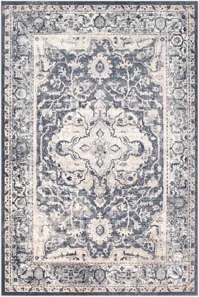 Surya Durham Medium Gray Charcoal White Polypropylene Area Rug - 144x108 DUR1013-912