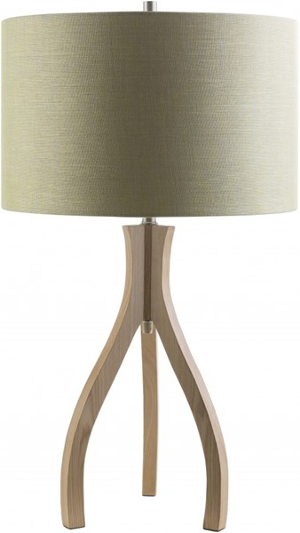 Duxbury Natural Wood Polyester Drum Table Lamp (W 15.75 X H 28.74) DXB770-TBL