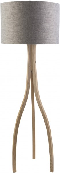 Duxbury Natural Wood Polyester Floor Lamp (W 14.37 X H 49.6) DXB771-FLR