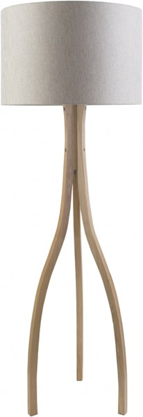 Duxbury Contemporary Natural Wood Polyester Floor Lamp (W 20 X H 60) DXB773-FLR