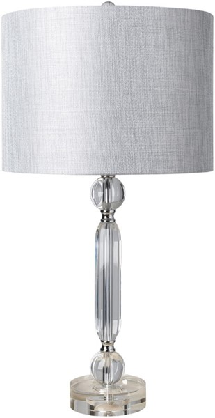 Surya Dylan Light Gray Crystal Table Lamp - 14x27 DYL-100
