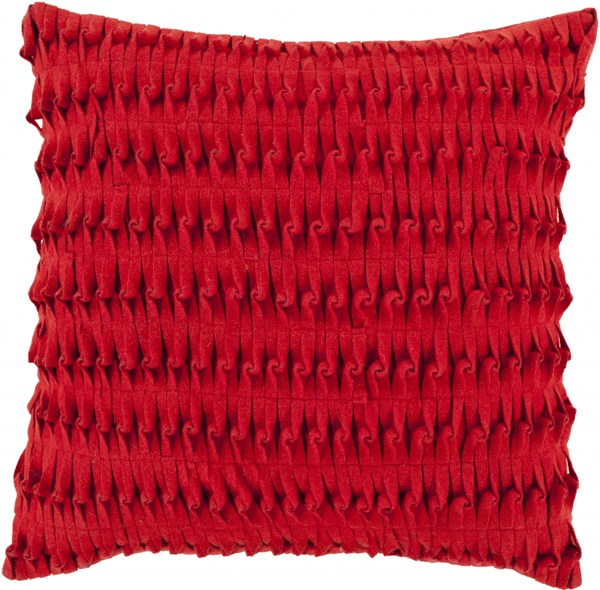 Eden Cherry Down Wool Nylon Throw Pillow - 22x22x5 ED003-2222D