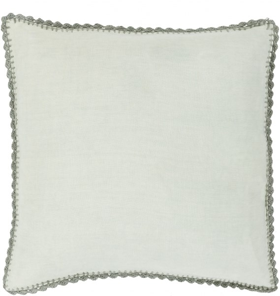 Elsa Sea Foam Gray Down Linen Throw Pillow - 22x22x5 EL004-2222D