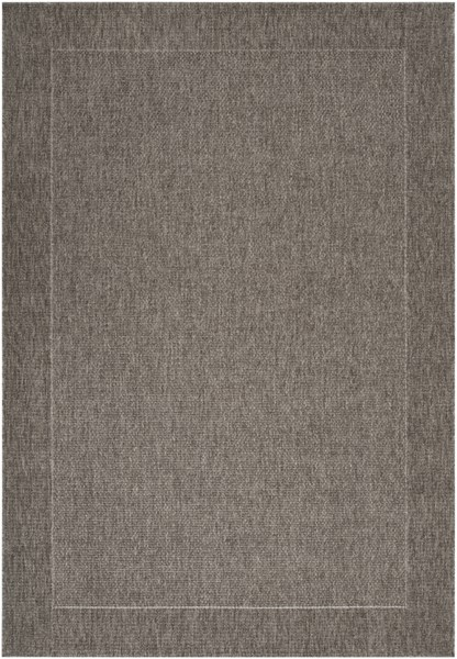 Elements Contemporary Charcoal Olefin Area Rug (L 90 X W 63) ELT1008-5376