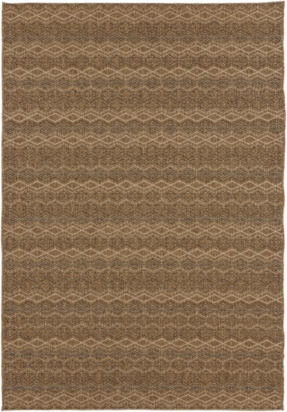 Elements Contemporary Beige Gold Olefin Area Rugs 1770-VAR1