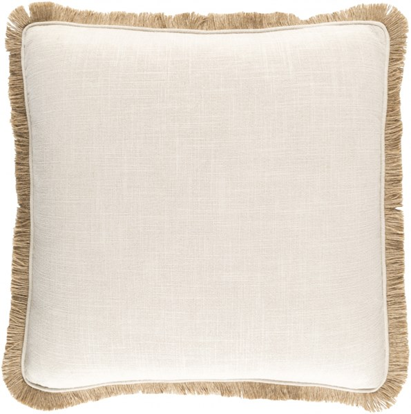 Ellery Contemporary Beige Fabric Throw Pillow (L 20 X W 20 X H 5) ELY001-2020D