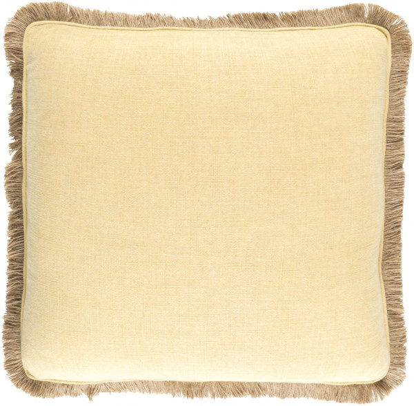 Ellery Contemporary Gold Beige Fabric Throw Pillow (L 20 X W 20 X H 5) ELY002-2020P