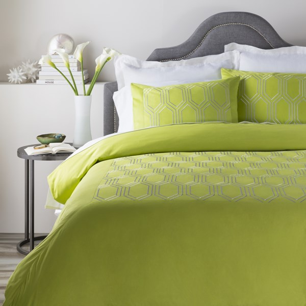 Empire Traditional Lime Fabric Full/Queen Duvet (L 88 X W 92) EMR3001-FQ