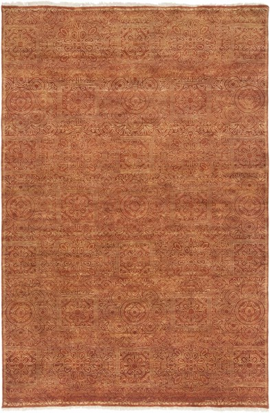 Empress Rust Taupe Ivory Wool Area Rug - 66 x 102 EMS7007-5686