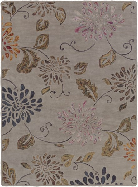 Enchanted Contemporary Moss Mauve Taupe Wool Area Rug (L 132 X W 96) ENC4001-811