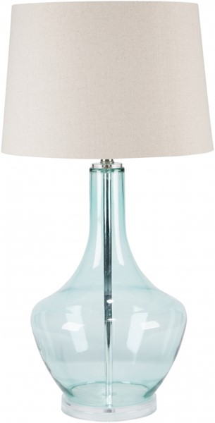 Easton Contemporary Transparent Blue Glass Table Lamps 13838-VAR1