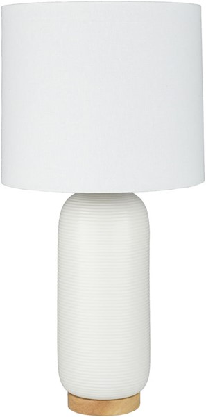 Surya Everly White Ceramic Table Lamp - 13x25.50 ERL-001