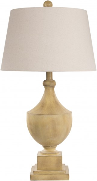 Eleanor Contemporary Antiqued Yellow Wood Table Lamps 13839-VAR1