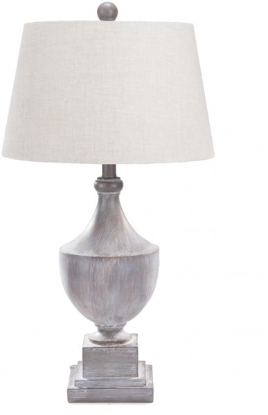 Eleanor Contemporary Gray Washed Wood Table Lamp (W 15 X H 28) ERLP-002