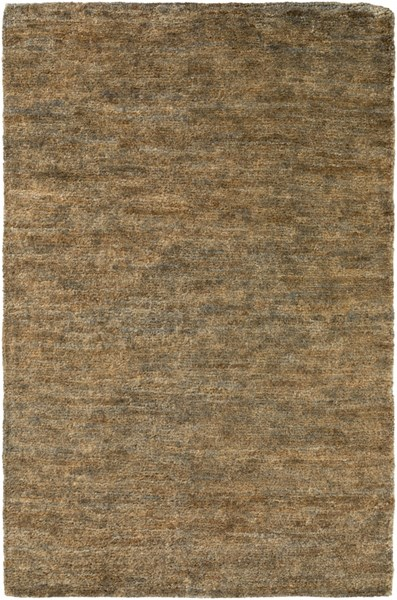 Essential Chocolate Charcoal Light Gray Jute Area Rug (L 90 X W 60) ESL1000-576