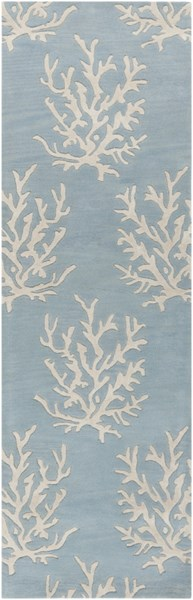 Escape Coastal Sky Blue Ivory Wool Runner (L 96 X W 30) ESP3013-268