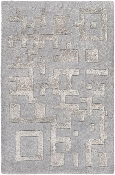 Essence Modern Mauve Light Gray Wool Area Rug (L 36 X W 24) ESS7690-23