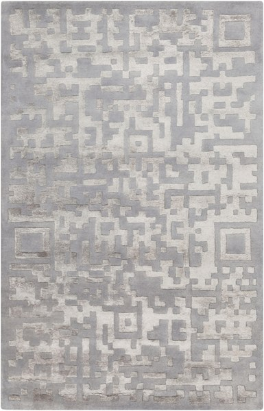 Essence Modern Mauve Light Gray Wool Area Rug (L 96 X W 60) ESS7690-58