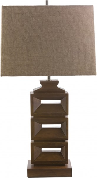 Essex Stained Wood Linen Table Lamp - 16.14x30.9 ESX412-TBL