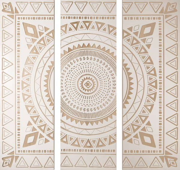 Surya Eternal Tribal Circle Panels Wall Art ET94654001-SET