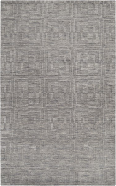 Etching Contemporary Gray Fabric Rectangle Area Rug ETC4908-58