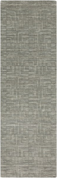 Etching Contemporary Gray Fabric Hand Woven Runner ETCHING-DCR-BNDL