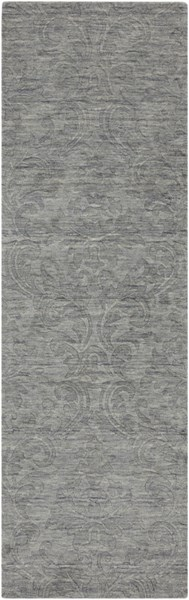 Etching Contemporary Gray Fabric Runner (L 96 X W 30) ETC4926-268
