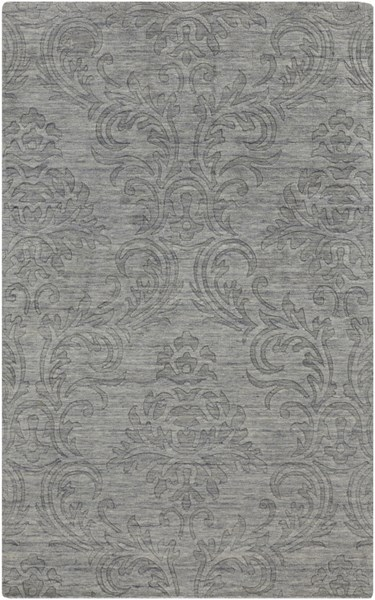 Etching Contemporary Gray Fabric Area Rug (L 96 X W 60) ETC4926-58