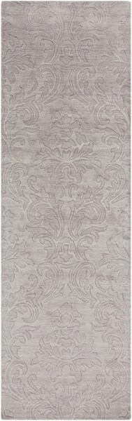 Etching Contemporary Light Gray Wool Runner (L 96 X W 30) ETC4929-268