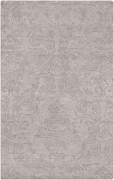 Etching Contemporary Light Gray Wool Area Rug (L 96 X W 60) ETC4929-58