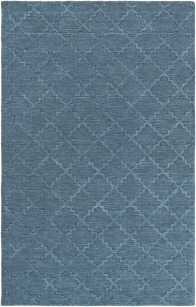 Etching Contemporary Teal Fabric Hand Woven Area Rug ETC4970-58