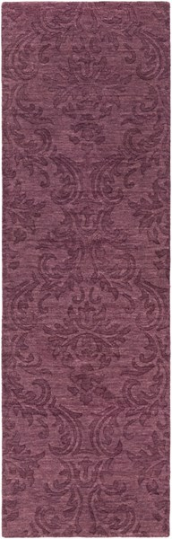 Etching Contemporary Eggplant Wool Runner (L 96 X W 30) ETC4979-268