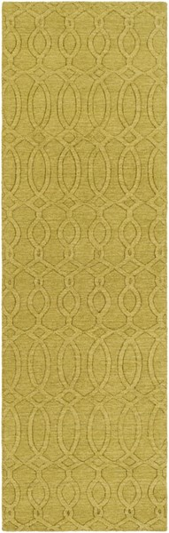 Etching Contemporary Olive Fabric Runner (L 96 X W 30) ETC4981-268