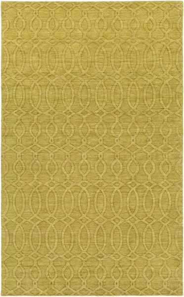 Etching Contemporary Olive Fabric Area Rug (L 96 X W 60) ETC4981-58