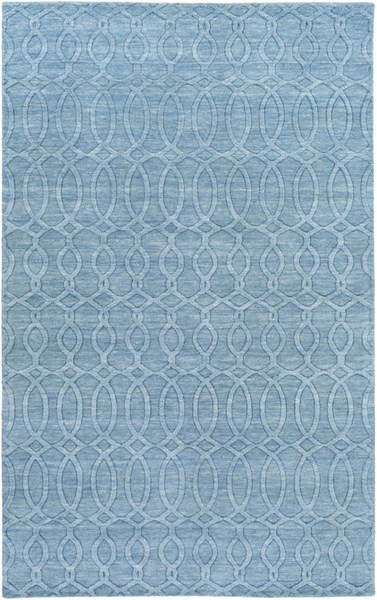 Etching Contemporary Aqua Fabric Area Rug (L 96 X W 60) ETC4984-58