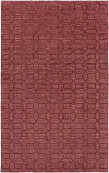 Etching Contemporary Burgundy Wool Area Rug (L 96 X W 60) ETC4987-58