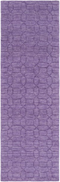 Etching Contemporary Violet Wool Runner (L 96 X W 30) ETC4990-268