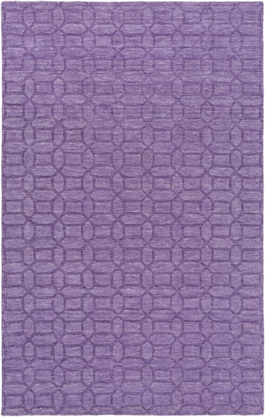 Etching Contemporary Violet Fabric Area Rug (L 96 X W 60) ETC4990-58