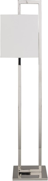 Surya Bethune White Metal Floor Lamp - 7x57 ETU-002