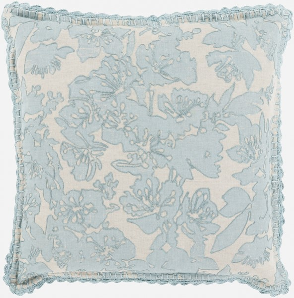 Evelyn Traditional Light Gray Fabric Throw Pillow (L 20 X W 20 X H 5) EV001-2020D