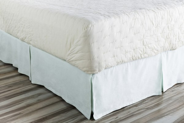 Evelyn Traditional Seafoam Fabric Full Bed Skirt (L 76 X W 54 X H 15) EVY3000-FSKT